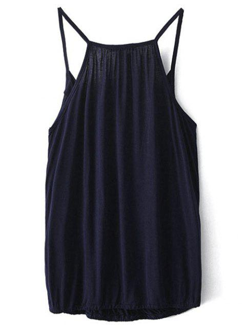 new V Neck Wrap Cami Top - PURPLISH BLUE L Mobile
