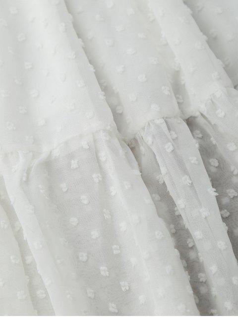 new Cami Dot Embellished Ruffle Midi Dress - WHITE ONE SIZE Mobile