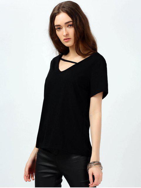 T-shirt coton confortable - Noir S Mobile
