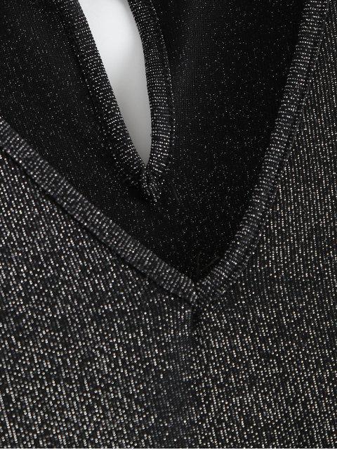 outfits Glittered Choker Mini Dress - BLACK L Mobile