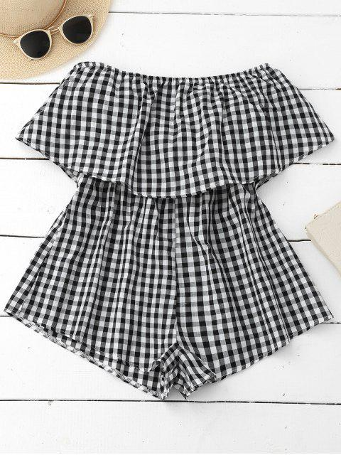 new Checked Overlay Tube Romper - PLAID XL Mobile