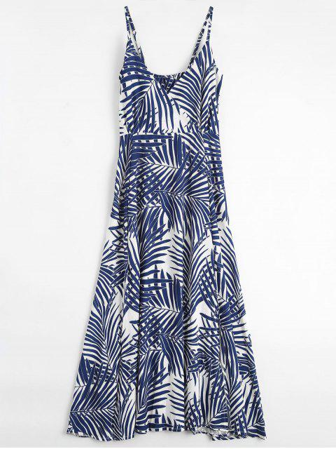 outfit Palm Tree Print Slip Maxi Holiday Dress - COLORMIX M Mobile