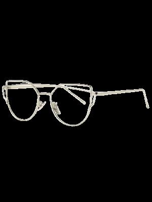 Bar Sonnenbrille mit Metall Silber- Frame
