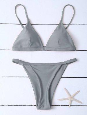 Bikinis à Bretellesspaghettis  Taille Basse - Gris S