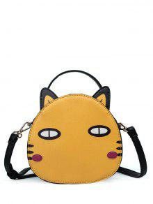 Buy Cat Shaped Mini Crossbody Bag - YELLOW