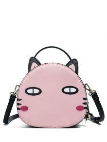Buy Cat Shaped Mini Crossbody Bag - PINK