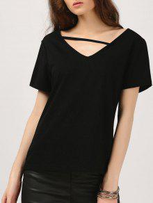 Camiseta De Algodón Acogedora - Negro 2xl