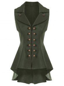 معطف الصدرية عالية انخفاض  - الجيش الأخضر Xl