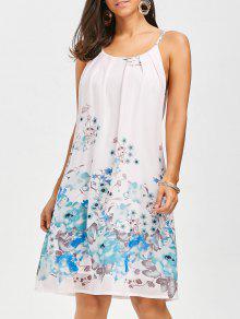 فستان الأزهار الشيفون مصغرة زلة  - الأزهار S