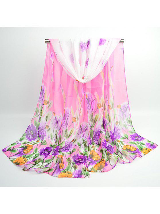 يتوهم الزهور تزهر الشيفون وشاح شال - زهري