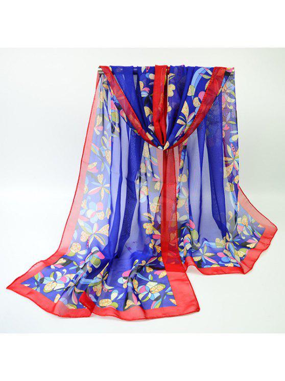 Écharpe écharpe multicolore multicolore à fleurs - Royal