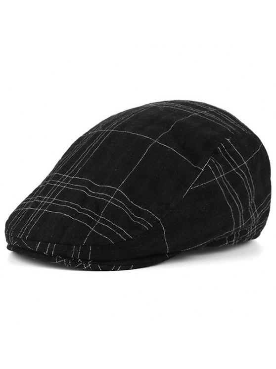 منقوشة مخطط الحنين قبعة سائق شاحنة - أسود