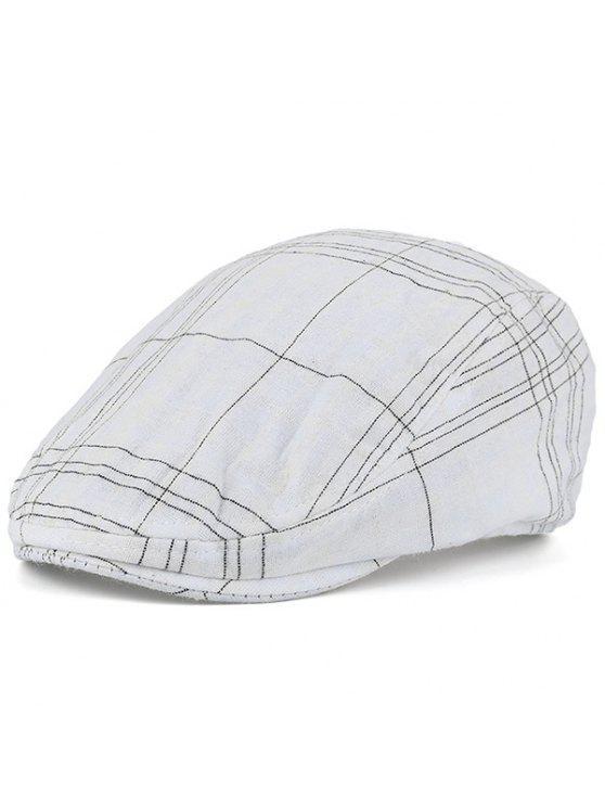 منقوشة مخطط الحنين قبعة سائق شاحنة - أبيض
