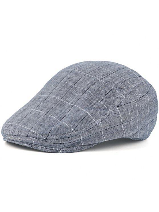 تحقق ريترو في الهواء الطلق نيوزبوي قبعة - ازرق رمادي