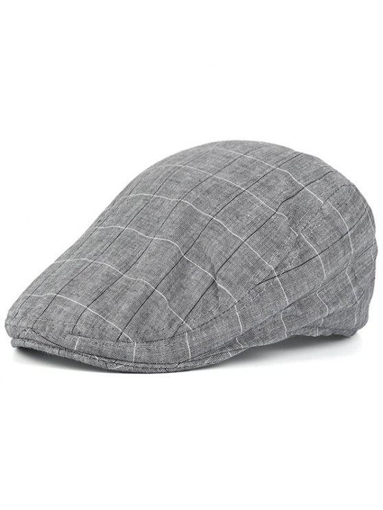 تحقق ريترو في الهواء الطلق نيوزبوي قبعة - رمادي