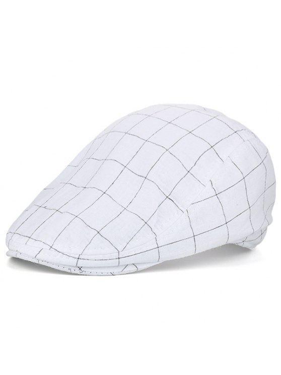 تحقق ريترو في الهواء الطلق نيوزبوي قبعة - أبيض