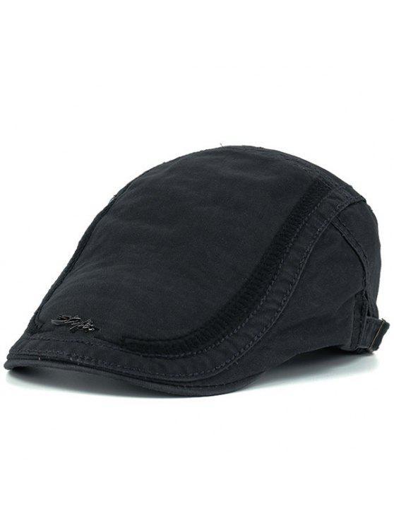 قبعة نيوزبوي مزينة بكتابة معدنية للرجال - الرمادي العميق