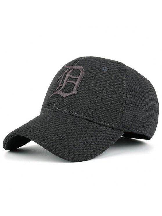 القوطية إلكتروني التطريز قبعة بيسبول - رمادي
