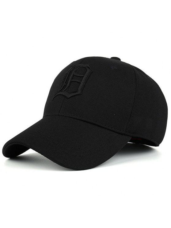 القوطية إلكتروني التطريز قبعة بيسبول - الأسود الكامل