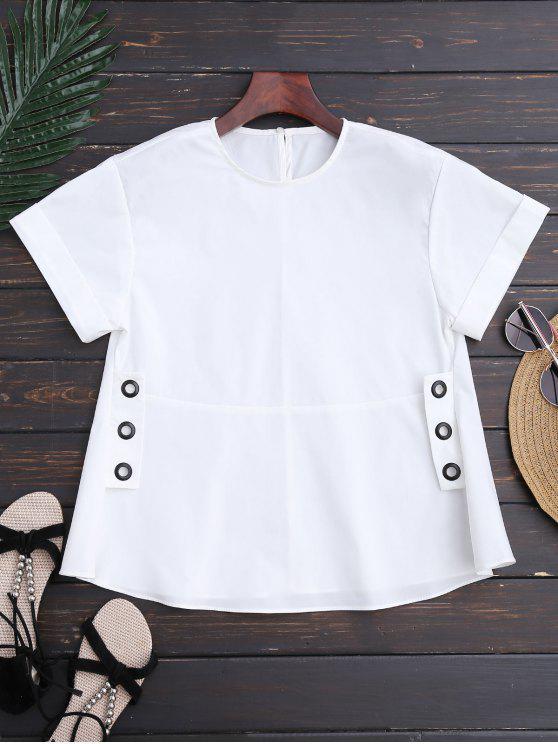 Cinturón con cordones - Blanco L