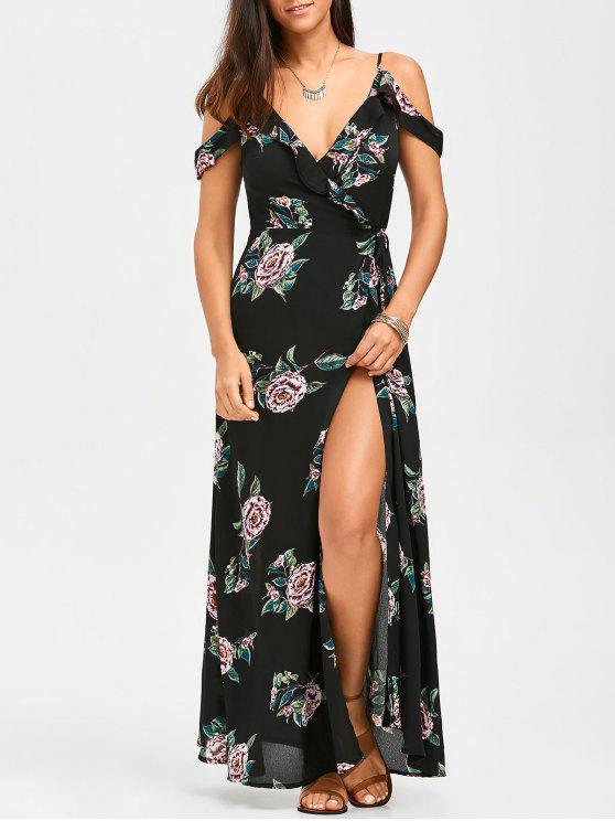 Robe Florale Épaules Nues Avec Lanières - Floral L