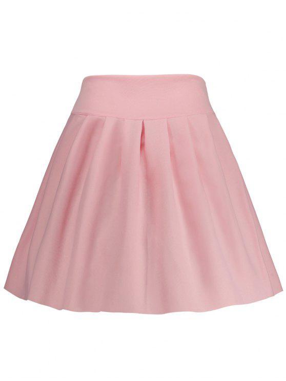 تنورة عالية الخصر توهج مصغر - زهري XL