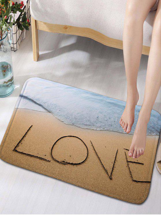 الحب شاطئ البحر طباعة الفانيلا سكيدبروف الحمام البساط - ساندي براون W16 بوصة * L24 بوصة