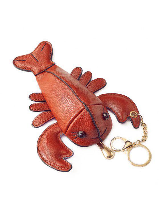مضحك جراد البحر على شكل عملة محفظة - بنى