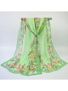 Écharpe écharpe Multicolore Multicolore à Fleurs - Turquoise