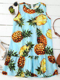 Robe En Ananas Sans Manches - L