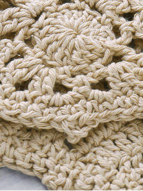 online Halter Handwork Crochet Bathing Suit - KHAKI ONE SIZE(FIT SIZE XS TO M) Mobile