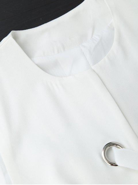 Gilet de palourde à lacets à l'arrière - Blanc S Mobile