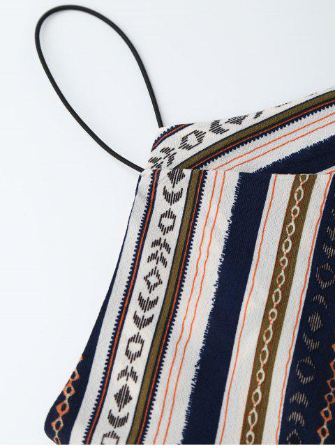 Robe d'été à multi rayures taille élastique - Multicolore XL Mobile