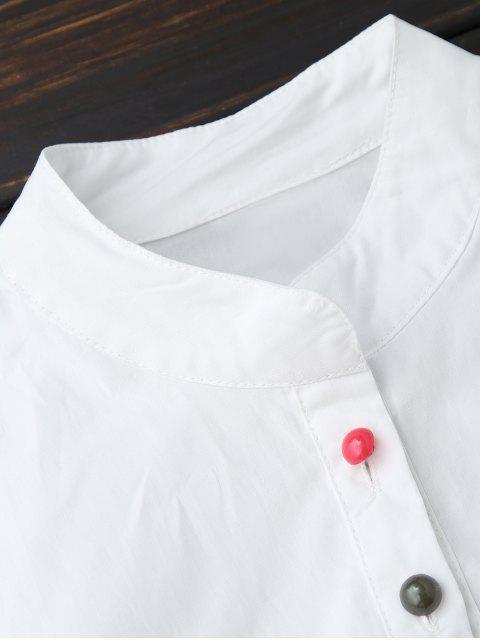Robe habillée en coton à tunique - Blanc XL Mobile