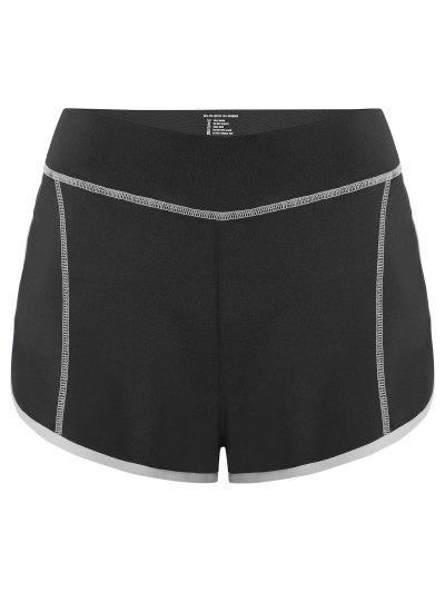 Image of Color Block Mini Gym Shorts