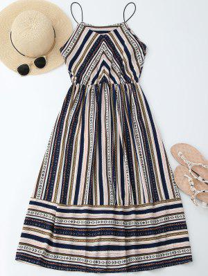 Elastric Waist Multi Stripes Sundress - Xl