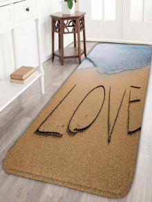 الحب شاطئ البحر طباعة الفانيلا سكيدبروف الحمام البساط - الرمل الأصفر W16 بوصة * L47 بوصة
