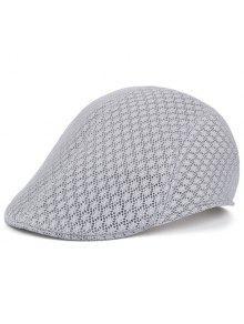 قبعة نيوزبوي بثقوب قابلة للتهوية - رمادي فاتح