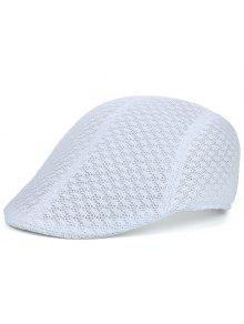الجوف خارج شبكة تنفس قبعة نيوزبوي - أبيض