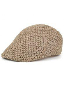 قبعة نيوزبوي بثقوب قابلة للتهوية - كاكي