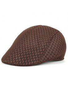 قبعة نيوزبوي بثقوب قابلة للتهوية - قهوة