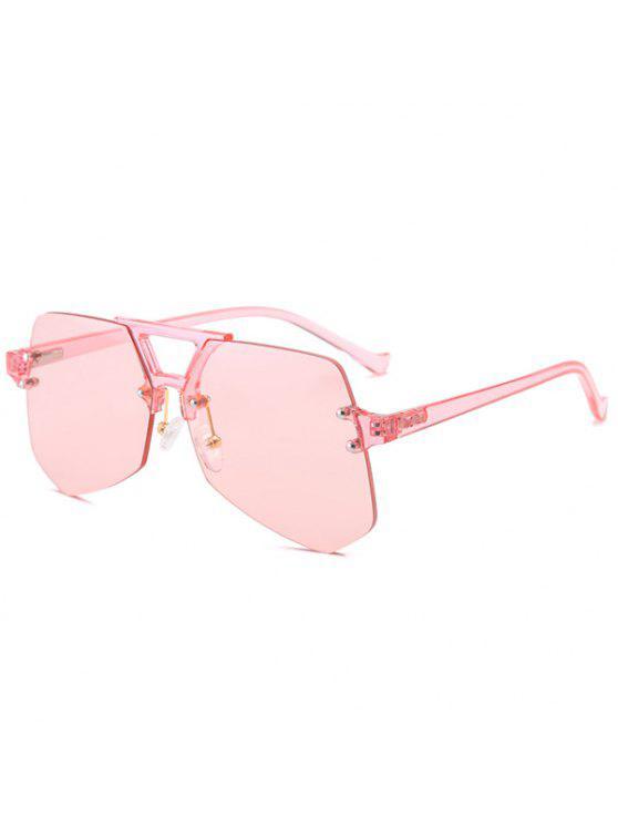 نظارة شمسية هندسية بدون حواف - زهري
