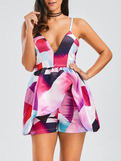 Cami Layered Printed Romper - Xl