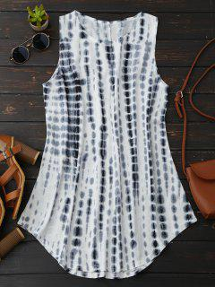 Tie-Dyed Trapeze Dress - White S