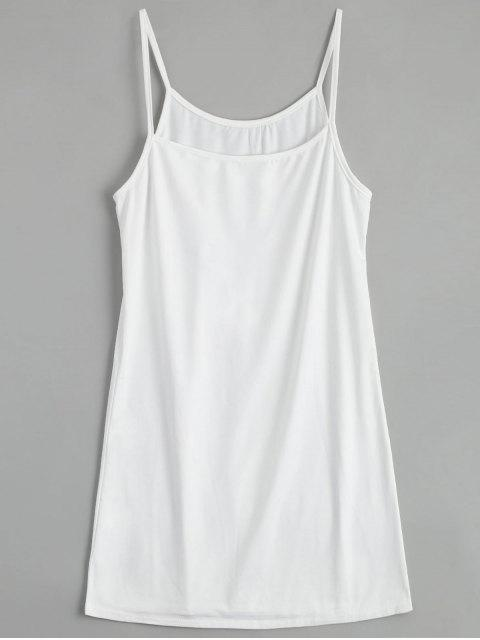 trendy Hollow Out Ruffle Dress with Tank Top - WHITE S Mobile