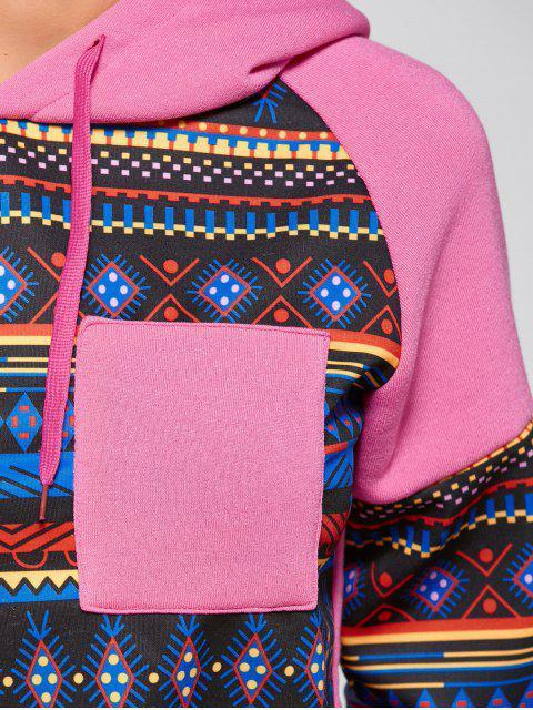 Motif tribal Hoodie - ROSE PÂLE S Mobile