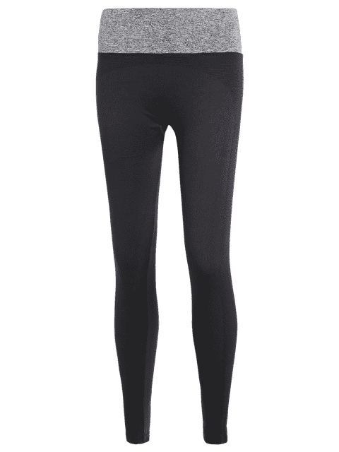 trendy Stretchy Yoga Leggings - GRAY S Mobile