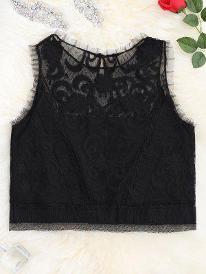 Camiseta Sin Mangas Con Cordones - Negro M