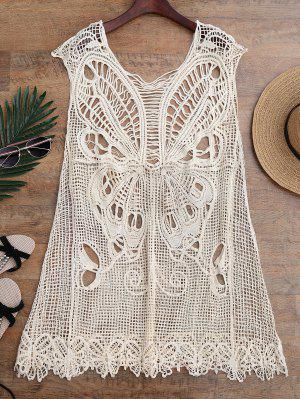 Crochet Butterfly Cover Up Tunic Dress