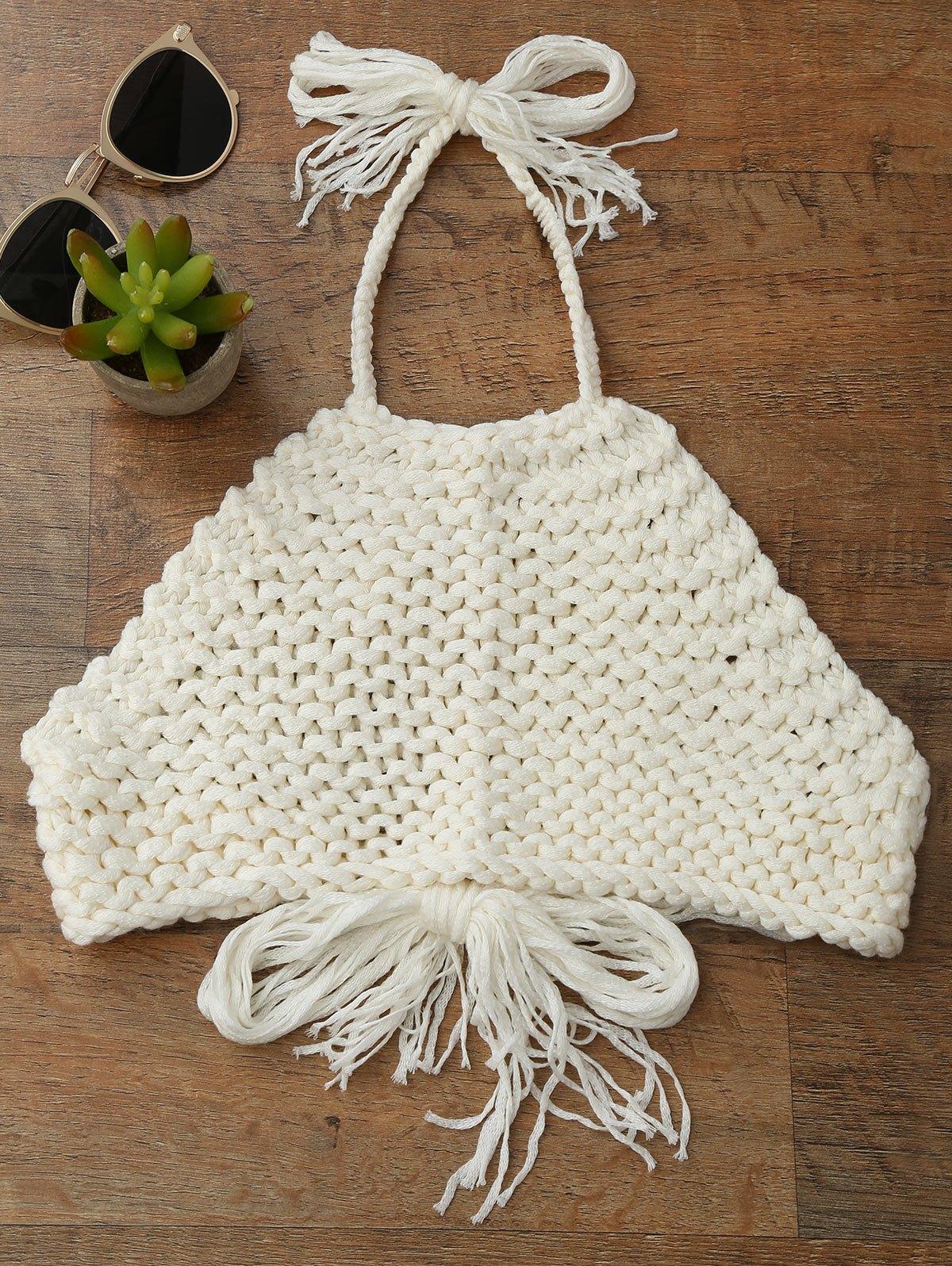 High Neck Crochet Crop Top 212707801
